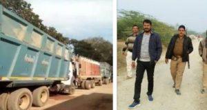 एसडीएम ने पकड़े खनन के 47 ट्रक, पुलिस ने कराए हिरासत से 30 गायब