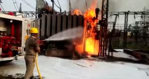 हरदुआगंज बिजलीघर में लगी आग, डेढ़ घंटे में काबू